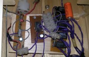 Detalhe do circuito receptor do controle remoto.