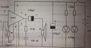 Circuito Amplificador LM 386N