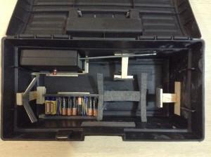 Caixa de ferramentas com compartimentos separados